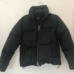 Express front zip puffer jacket